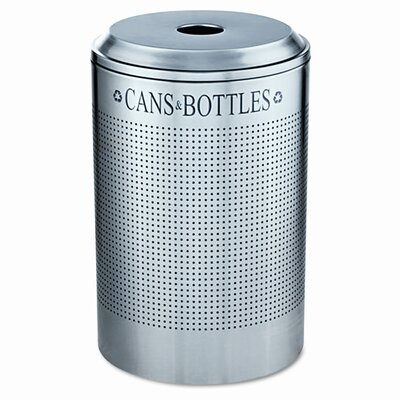 Rubbermaid Commercial Products Silhouette Can/Bottle Round 26 Gallon Industrial Recycling Bin