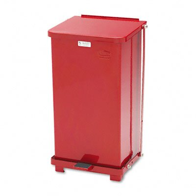 Rubbermaid Commercial Products Defenders Square Biohazard Step Can, 12 Gal