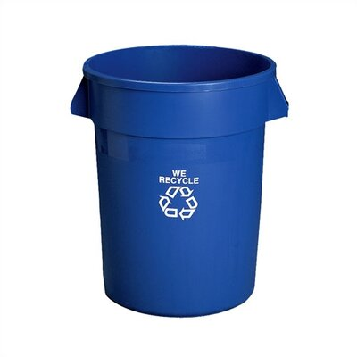 Rubbermaid Commercial Products Brute Recycling Container without Lid and Dolly