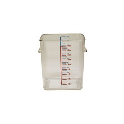 Rubbermaid Commercial Products Polycarbonate Square Storage Container (18 U.S. qt.)