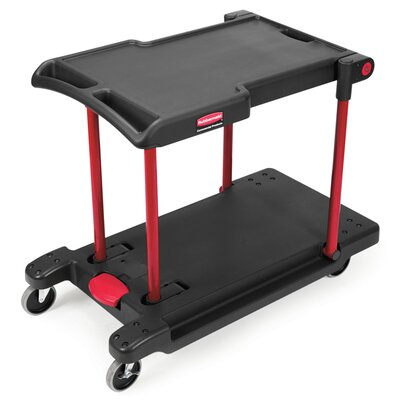 Rubbermaid Commercial Products 2 Shelf Convertible Utility Cart