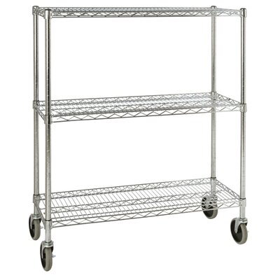"Rubbermaid Commercial Products 48.3"" H x 38"" W x 14"" D Mobile Rack in Chrome"