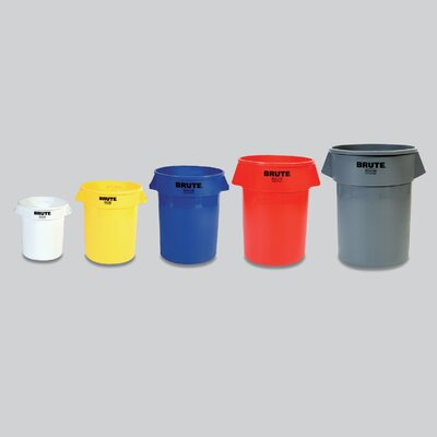 Rubbermaid Commercial Products Brute 10 Gallon Waste Container without Lid - 10 Gallon