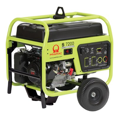 Pramac 7200 Watt Portable Gas Generator with Recoil/Electric Start