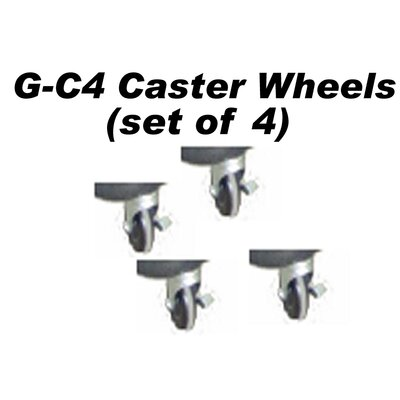 Stoneman Sports Glacik Caster Wheel in Black (Set of 4)