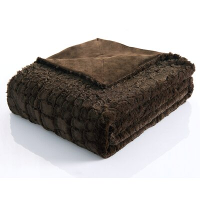 Victoria Classics Ashley Alligator Reversible Faux Fur Throw