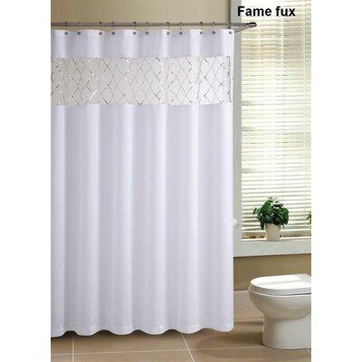 Victoria Classics Fame Faux Silk Shower Curtain Reviews Wayfair