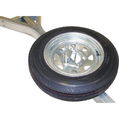Malone Auto Racks Galvanized Trailer Spare Tire with Locking Attachment for MicroSport Trailer
