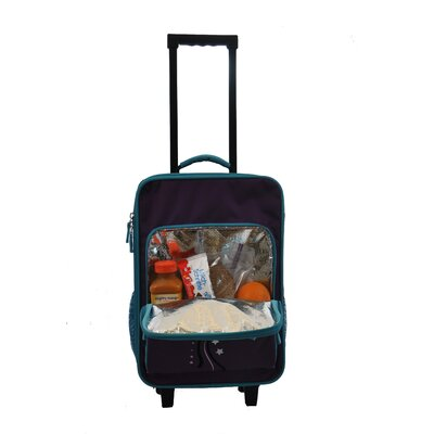Obersee Kids Luggage with Integrated Cooler in Turquoise Butterfly