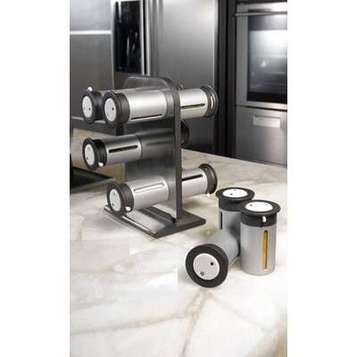 Zevro Zero Gravity Countertop 12 Canisters Magnetic Spice Rack Set ...