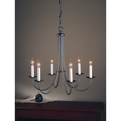 Simple Sweep 6 Light Chandelier