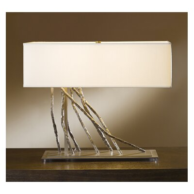 "Hubbardton Forge Brindille 16.5"" H Table Lamp with Rectangle Shade"
