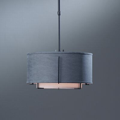 Hubbardton Forge Exos Double Shade 1 Light Adjustable Drum Pendant