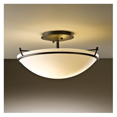 Hubbardton Forge Small Plain 2 Light Semi Flush Mount