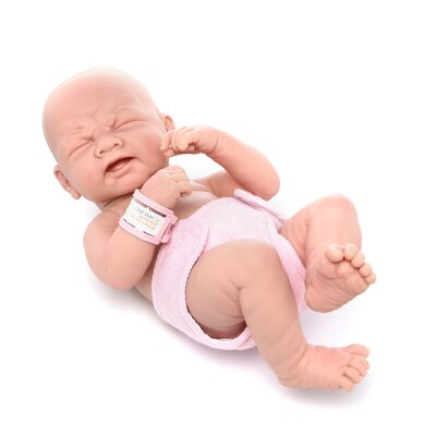 "<strong>JC Toys</strong> La Newborn - 14"" Closed Eyes Real Girl Vinyl Doll"