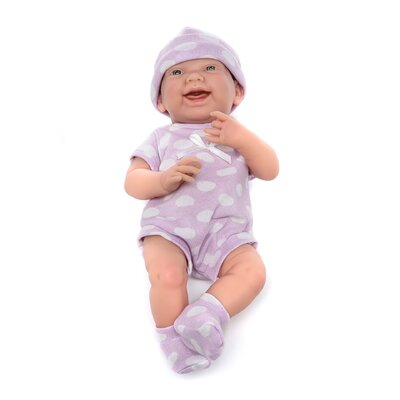 JC Toys Berenguer Boutique Newborn Doll with Purple Polka Dot Bodysuit