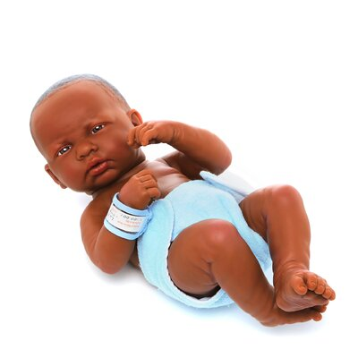 <strong>JC Toys</strong> La Newborn African American (Real Boy!) Doll