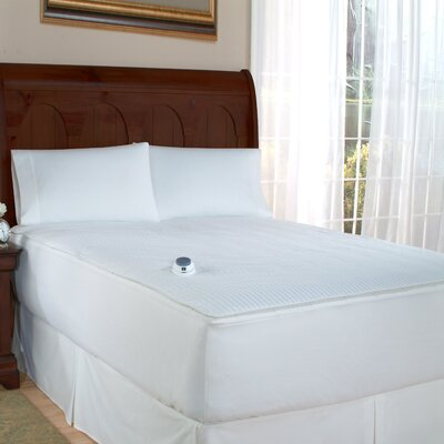 Perfect Fit Industries Polyester Electric Heated Warming Two-In-One Removable Top Mattress Pad