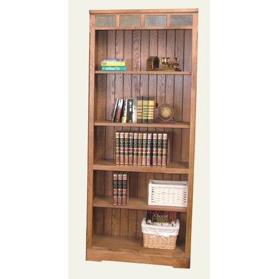 Sunny Designs Sedona Open Bookcase in Distressed Oak
