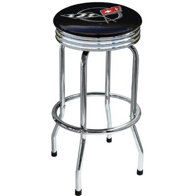 "On The Edge Marketing Chevrolet 29.5"" Swivel Bar Stool with Cushion"