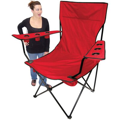 On The Edge Marketing Outdoor Giant Kingpin Folding Chair in Red