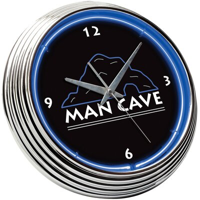 Man Cave Neon Clock in Blue / Black