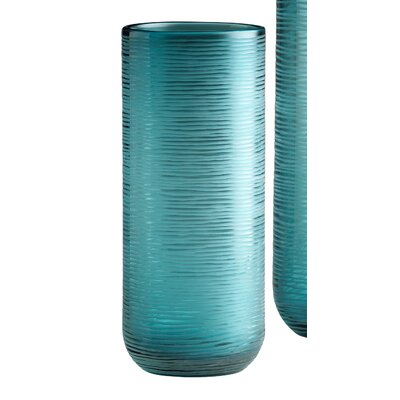 Cyan Design Medium Libra Vase in Aqua