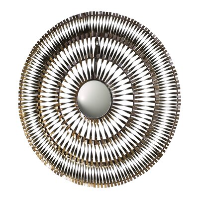 Cyan Design Spiral Mirror in Silver and Gold