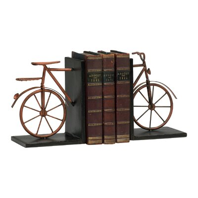 Cyan Design Bicycle Bookends in Muted Rust