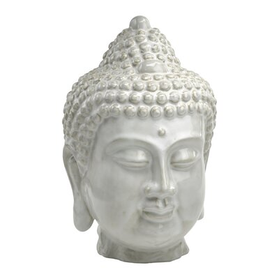 Cyan Design Thai Buddha Sculpture in Off White Glaze