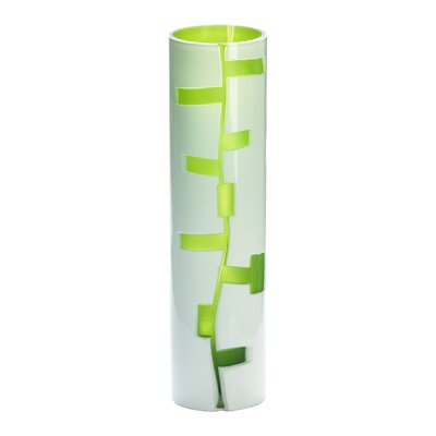 Medium Danish Vase in White and Green