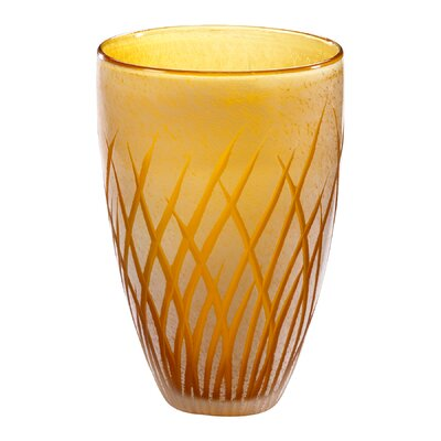 Cyan Design Medium Aquarius Vase in Amber and White
