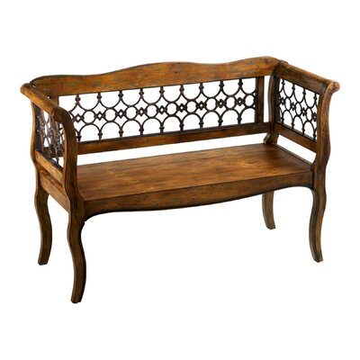 Cyan Design Jordan Wood and Iron Garden Bench
