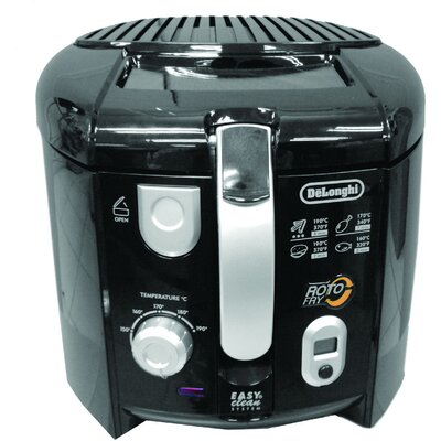 DeLonghi 2.2 Lbs Cool Touch Roto Deep Fryer in Black