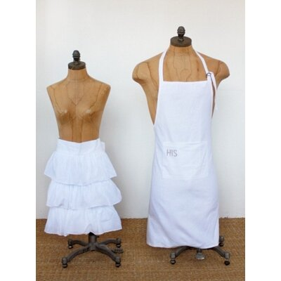 Pom Pom At Home Audrey Cotton 2 Piece His/Hers Apron Set