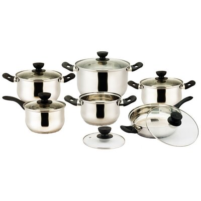 Vicenza Stainless Steel 12-Piece Cookware Set