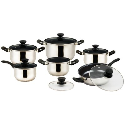 Vieste Series Stainless Steel 12-Piece Cookware Set