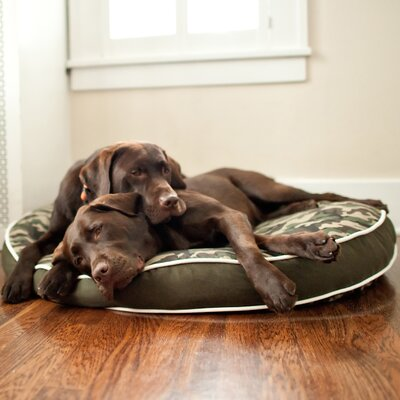 P.L.A.Y. Backyard Camouflage Round Dog Pillow