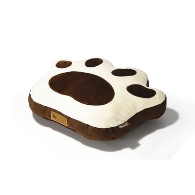 P.L.A.Y. Big Foot Pillow Dog Bed in Chocolate / Cream