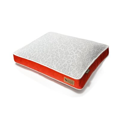 P.L.A.Y. Safari Serengeti Rectangular Dog Bed in Splashed White / Lust