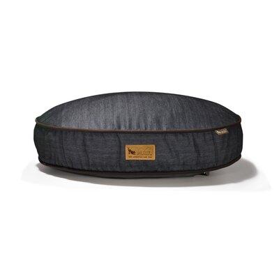 P.L.A.Y. Signature Urban Denim Round Dog Bed in Medieval Blue / Dark Chocolate