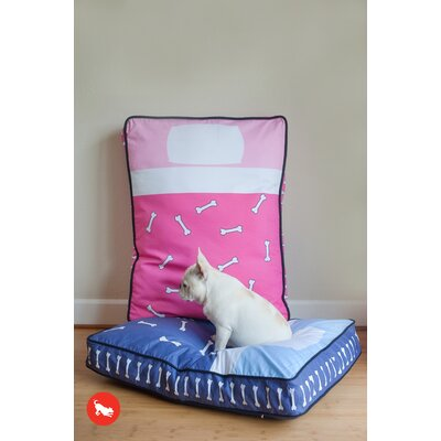 P.L.A.Y. Utopian Tuck Me In Rectangular Dog Bed in Hot Pink / Powder Pink