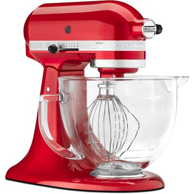KitchenAid Artisan Design Series 5-Quart Stand Mixer with Glass Bowl
