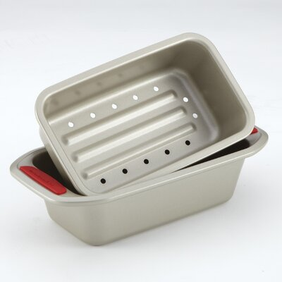 KitchenAid Gourmet Bakeware 2 Piece Meatloaf Pan Set with Silicone Grips