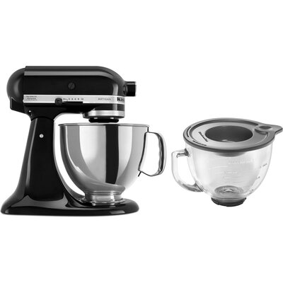 KitchenAid Artisan Series 5-Quart Stand Mixer with Stainless Steel and Glass Bowl