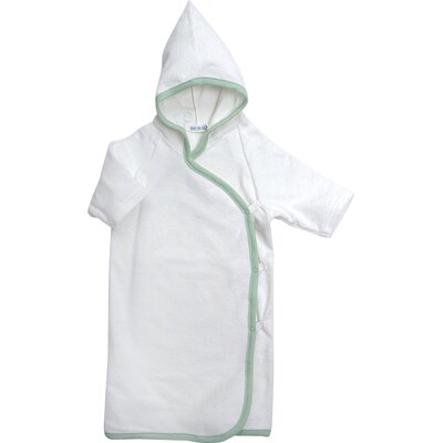Under the Nile Bath Time Favorites Hooded Terry Kimono in Sage Trim