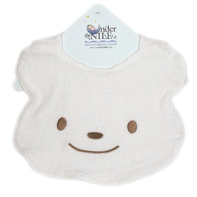 Under the Nile Animal Pals Bear Bib in White