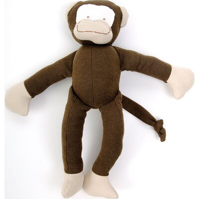 Under the Nile Everyday Denim Monkey Toy in Brown