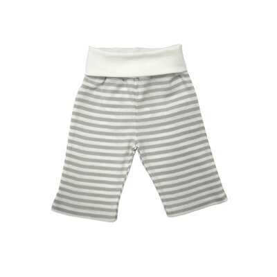 Nature's Nursery Rolled Waist Pant in Tan Stripes