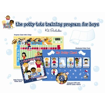 Potty Tots Boys Potty Training Kit